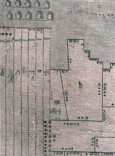 El mapa Oztoticpac de propiedades aztecas, de 1540