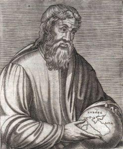 Estrabón según un grabado del siglo XVI
