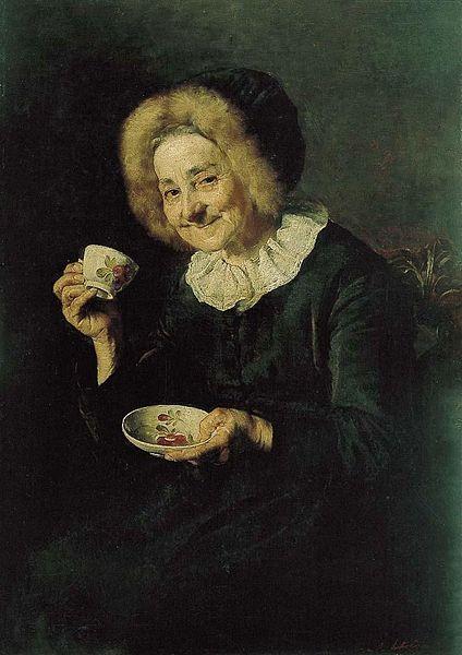 Kofetarica (La bebedora de café), de 1888. Óleo sobre lienzo de Ivana Kobilca (1861–1926), en el Museo Nacional de Ljubljana
