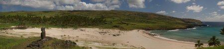 Panoráma de la playa de Anakema