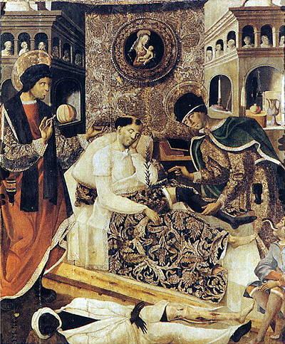 El milagro de San Cosme y San Damián atribuido a Fernando del Rincón. En la actualidad, en el museo del Prado.