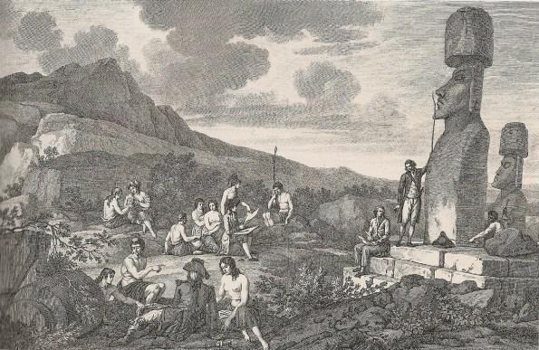 Grabado del Atlas Voyage de La Pérouse autour le monde. Millet Mureu, París 1797. Museo Naval, Madrid.