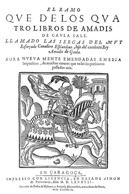 """Portada del libro """"Las Sergas de Esplandián"""", libro de caballería donde por primera vez se menciona el nombre de California."""