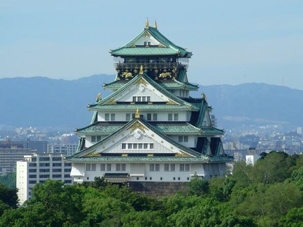 Castillo de Osaka, en cuya construcción intervinó la familia Kongo.